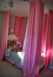 Canopy Bed Curtains For Girls Curtains Over Little Girls Bed Hometalk