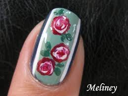 flower nail art tutorial vintage rose floral design swirl how to