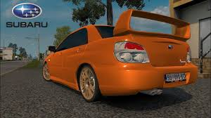 orange subaru impreza ets2 v1 28 i mod subaru impreza v2 deutsch hd youtube