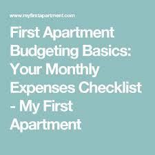 best 25 first apartment checklist ideas on pinterest first