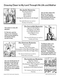 rosary for kids rosary reference sheet for children that resource site