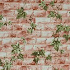 american country 3d imitation brick wallpaper parthenocissus