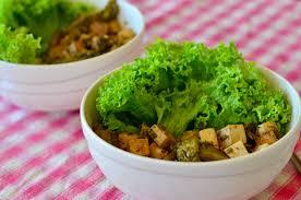 cuisiner tofu poele poêlée de tofu aux asperges vertes