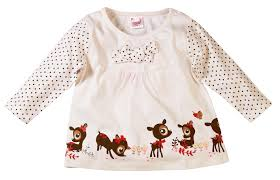 deer print dress with bow detail