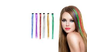 gg s hair extensions up to 60 on clip in hair extensions 6 pack groupon goods