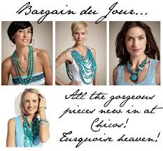 chicos models hair bargain du jour turquoise jewelry at chico s