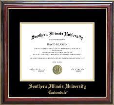 of illinois diploma frame southern illinois carbondale diploma frame everything