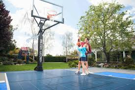 half basketball court can add on concrete and paint in pictures