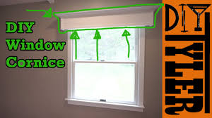 How To Make Window Cornice Simple Diy Window Cornice Youtube