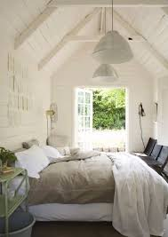 White Wood Ceiling by Bedroom Vaulted Ceiling Design Ideas