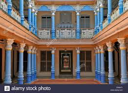 Asia Villa by Courtyard Of A Villa In Chettinad Tamil Nadu India South India