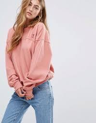 light pink adidas sweatshirt adidas originals oversized sweatshirt in dusky pink at asos com