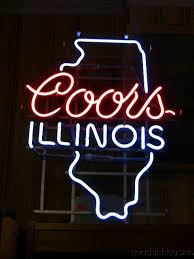 vintage coors light neon sign authentic vintage coors illinois neon beer sign bar light neon