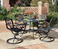 patio table set metal outdoor furniture sets brilliant chairs and
