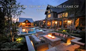 outdoor décor to conquer the game of thrones