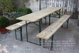 german beer garden table and bench 28 001 vintage german beer garden sets