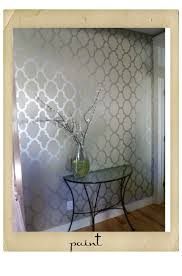 allover stenciling with modern masters metallic paint modern
