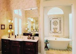 luxury master bathroom designs white vessel bath sink big wall
