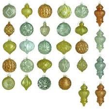 martha stewart living shimmer glass ornament set 50 count