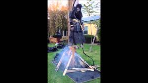 halloween props 2014 bw707 burning witch poisonprops com pneumatic halloween prop youtube