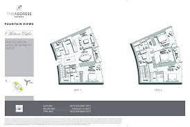 floor plans by address floor plans the address views downtown dubai by emaar