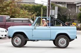bronco car lady gaga driving her classic ford bronco out in malibu 08 27 2016