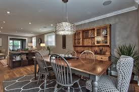 mismatched dining chairs dining room transitional with flooring
