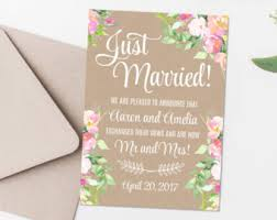 elopement card etsy