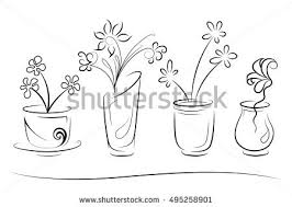 Vases With Flowers Flower Vector In Vase