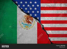 Flag Of The United States Of America Mexico Flag On Broken Brick Wall Image U0026 Photo Bigstock