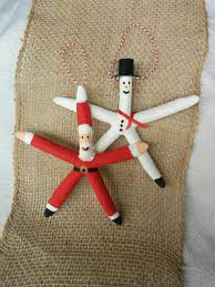 snowman ornament starfish ornament by mermaidstyles on etsy