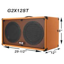 2x12 Guitar Cabinet Greg U0027s Pro Audio 2x12 Guitar Speaker Cabinet Charcoal Black