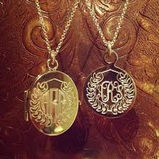 monogrammed locket swell caroline monogram locket classic beauty