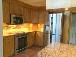 kitchen update after granite stainless appliances led lighting