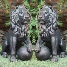 roaring lion statue bronze lion sculpture