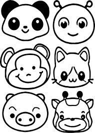 animals face coloring page wecoloringpage