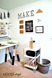 Wall Desk Diy by How To Diy A Sawhorse Craft Desk For Only 35