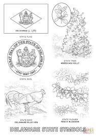 delaware state symbols coloring page free printable coloring pages
