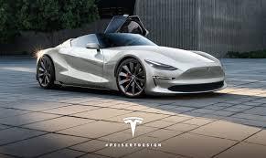 toyota roadster 2019 tesla roadster rendered on toyota ft 1 concept skeleton