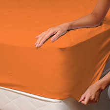 orange 100 cotton fitted sheet soulbedroom home textile