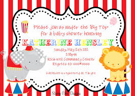 circus baby shower top 17 circus baby shower invitations for you thewhipper