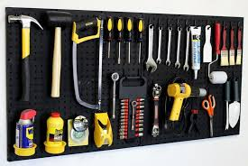wall mount pegboard tool organizer kit peg board hooks garage