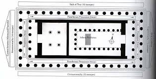 floor plan of the parthenon plan of the parthenon with diagram of sculptural program after a