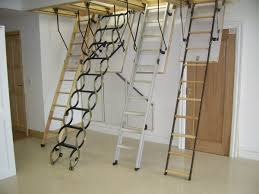 modern folding stairs to the attic 5 types