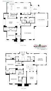 floor plan for new homes estancia new homes in rancho santa fe floor plans north county