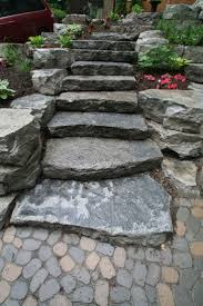 best 25 outdoor stone steps ideas on pinterest diy pebble paths