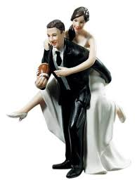 wedding figurines weddingstar playful football wedding figurine