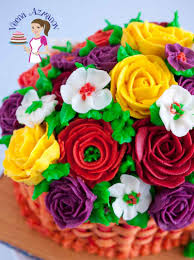 the best stiff buttercream recipe for piping flowers crusting