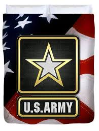 American Flag Bedding U S Army Logo Over American Flag Duvet Cover For Sale By Serge