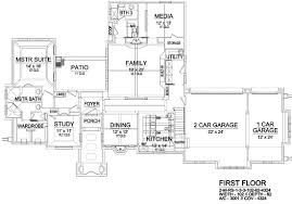 european house plan with 3 bedrooms and 3 5 baths plan 9072